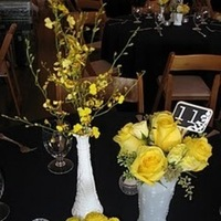 Reception, Flowers & Decor, white, yellow, Vintage, Garden, Glass, Inspiration board, Milk