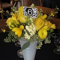 Reception, Flowers & Decor, white, yellow, Vintage, Nautical, Glass, Inspiration board, Chic, Vases, Milk, Shabby