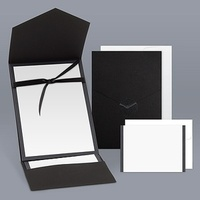 Stationery, black, Invitations