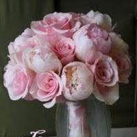 Flowers & Decor, pink, Flowers, Roses, And, Peonies