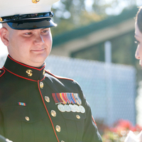 Ceremony, Photography, Military, Maggie, Hollis, Cari, Marine, Corps, Shirley, Soterro, Flowers & Decor