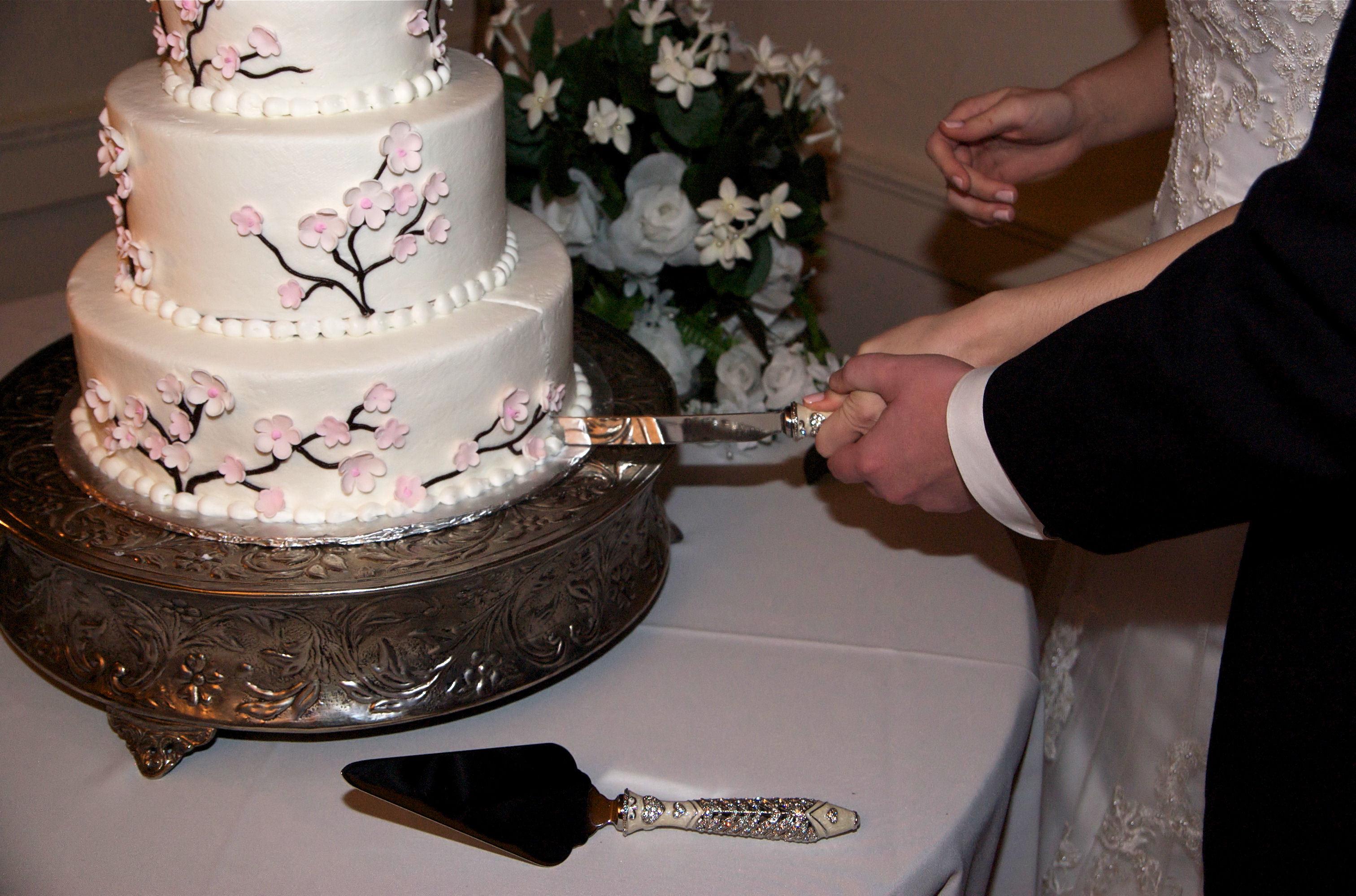 Cakes, pink, cake, Cutting