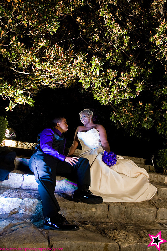 purple, Outdoor, Wedding, Evening, Dallas, Arboretum