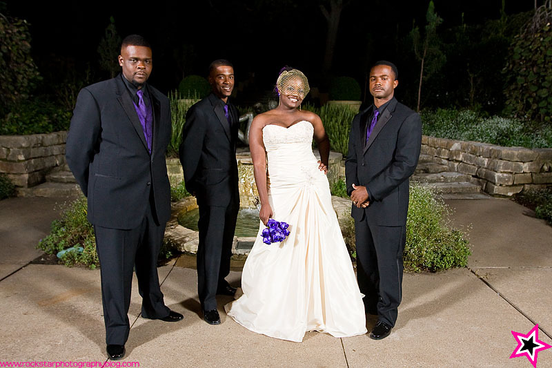 purple, Groomsmen, Outdoor, Wedding, Brides, Dallas, Arboretum