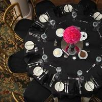 Reception, Flowers & Decor, white, pink, black, Flowers
