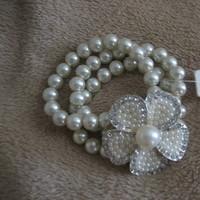 Jewelry, Bracelets, Crystal, Bracelet, Pearl, Accent