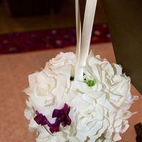Ceremony, Flowers & Decor, white, purple, Ceremony Flowers, Flowers, Pomander