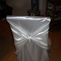 white, ivory, Tie, Chair, Satin, Cream, For, Sale, Covers, Off, Universal, Tying, Claytonandshauna, Self