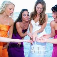 Beauty, Ceremony, Flowers & Decor, Bridesmaids, Bridesmaids Dresses, Fashion, white, yellow, orange, pink, purple, Hair
