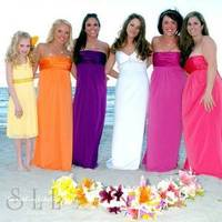Ceremony, Flowers & Decor, Bridesmaids, Bridesmaids Dresses, Fashion, white, yellow, orange, pink, purple, green, brown, Ceremony Flowers, Bridesmaid Bouquets, Flowers, Flower Wedding Dresses