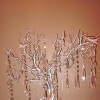 Reception, Flowers & Decor, silver, Tree, Crystal