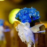 Ceremony, Flowers & Decor, white, blue, Ceremony Flowers, Flowers