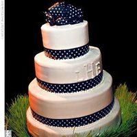 Reception, Flowers & Decor, Cakes, white, blue, cake