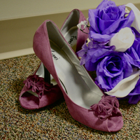 Flowers & Decor, Shoes, Fashion, white, purple, Flowers, Inspiration board, Flower Wedding Dresses