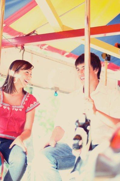 red, blue, Engagement, Park, Pictures, Amusement