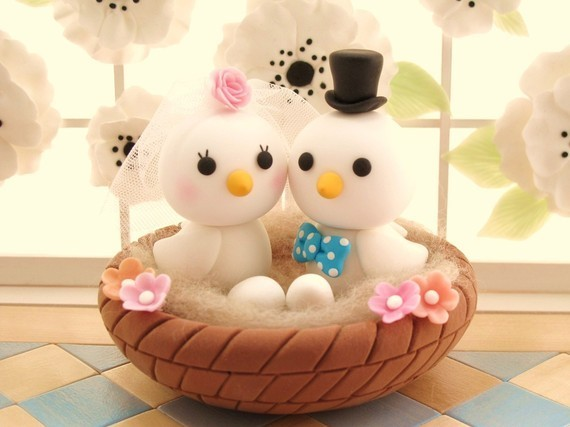 Cakes, cake, Cake Toppers, Birds, Topper, Animals, Love birds
