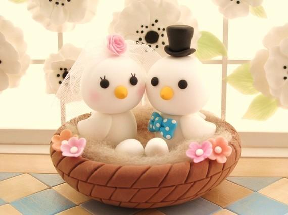 Cakes, cake, Cake Toppers, Birds, Topper, Animals, Love birds