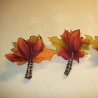 Flowers & Decor, orange, green, brown, gold, Fall, Flowers, Fall Wedding Flowers & Decor, Boutiniers