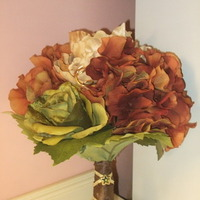 DIY, Flowers & Decor, orange, green, brown, gold, Bride Bouquets, Fall, Flowers, Fall Wedding Flowers & Decor, Bouquet