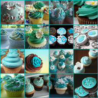 Cakes, blue, green, cake, Inspiration board