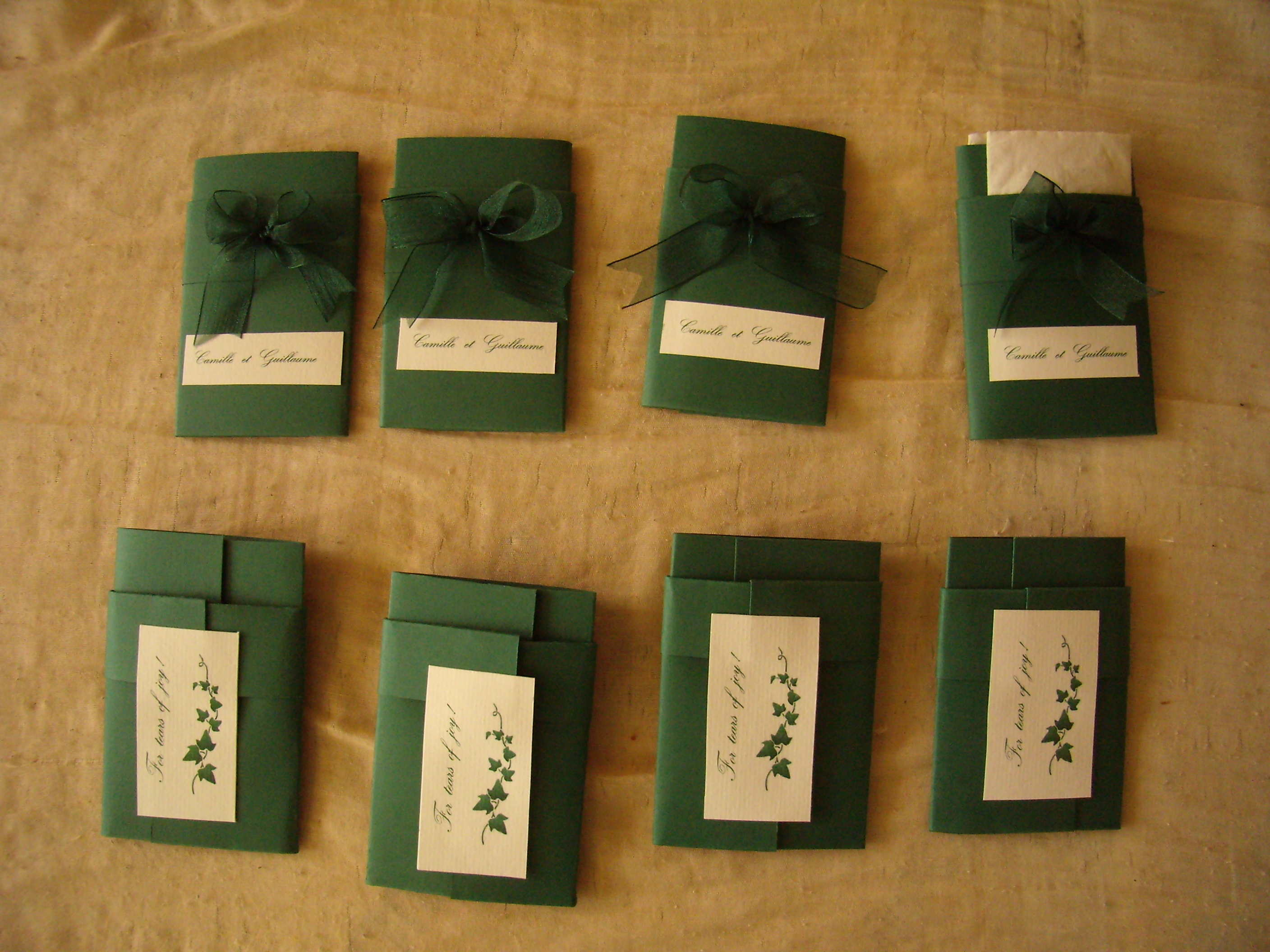 Ceremony, Flowers & Decor, Favors & Gifts, green, Favors, Of, Folder, Tears, Joy, _, Tissue, 001