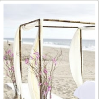 Reception, Flowers & Decor, Beach, Beach Wedding Flowers & Decor