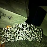 Jewelry, white, silver, Tiaras, Tiara