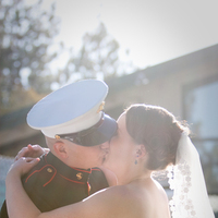 Ceremony, Flowers & Decor, Photography, Kiss, First, Military, Maggie, Marine, Shirley, Hollis, Corps, Cari, Soterro