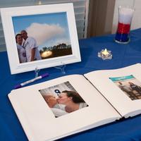 Reception, Flowers & Decor, Photography, blue, Table, Book, Guest, Hollis, Cari