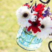 Ceremony, Flowers & Decor, Decor, Photography, white, red, blue, Isle, Hollis, Cari