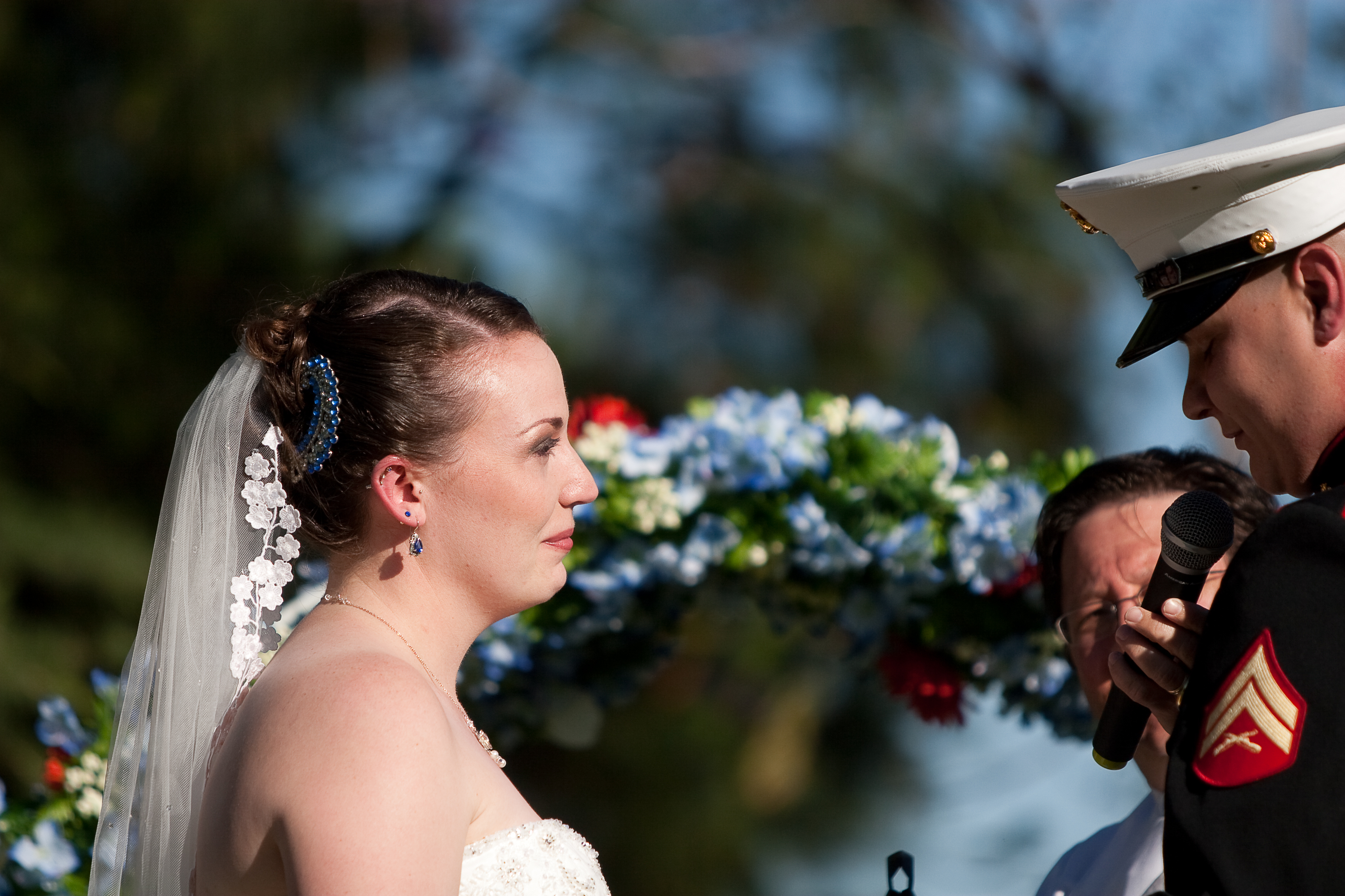 Ceremony, Flowers & Decor, Photography, Vows, Military, Marine, Hollis, Corps, Cari
