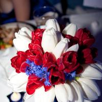 Reception, Flowers & Decor, Photography, white, red, blue, Flowers, Hollis, Cari