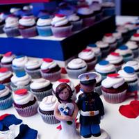 Reception, Flowers & Decor, Photography, Cakes, white, red, blue, cake, Sweet, Baseball, A, Design, Military, Marine, Hollis, Corps, Cari