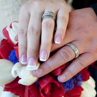 Flowers & Decor, Photography, white, red, blue, Flowers, Rings, Military, Marine, Hollis, Corps, Cari