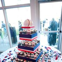 Reception, Flowers & Decor, Photography, Cakes, white, red, blue, cake, Sweet, Baseball, A, Design, Hollis, Cari