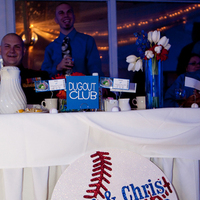 Reception, Flowers & Decor, Photography, white, red, blue, Baseball, Hollis, Cari