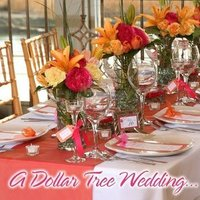 Reception, Flowers & Decor, yellow, orange, pink