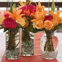 Flowers & Decor, yellow, orange, pink, Flowers