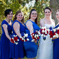 Beauty, Flowers & Decor, Bridesmaids, Bridesmaids Dresses, Wedding Dresses, Photography, Fashion, white, red, blue, dress, Bridesmaid Bouquets, Flowers, Hair, Maggie, Shirley, Hollis, Cari, Soterro, Flower Wedding Dresses