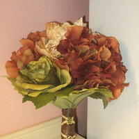 Flowers, green, orange, brown, Bouquet, gold, Jewelry, DIY, Fall, With, Peridot, Stem, Flowers & Decor, Bride Bouquets, Fall Wedding Flowers & Decor