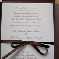 Stationery, brown, Invitations