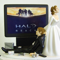 Cakes, cake, Cake Toppers, Wedding, Topper, Video, Game, Xbox, Junkie