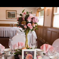 Reception, Flowers & Decor, white, orange, pink, silver, Flowers