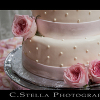 Reception, Flowers & Decor, Cakes, white, pink, cake