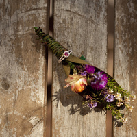 Ceremony, Reception, Flowers & Decor, purple, green, gold, Ceremony Flowers, Flowers, Flower, Groom, Inspiration board, Bout