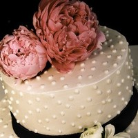 Cakes, white, pink, blue, cake