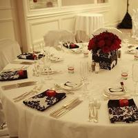 Reception, Flowers & Decor, white, red, black, Flowers