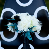 Flowers, white, blue, black, Flowers & Decor