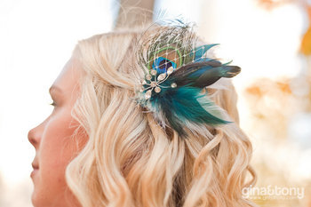 Beauty, white, blue, black, Feathers, Hair