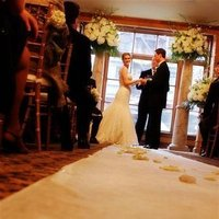 Ceremony, Flowers & Decor, white, green, black, gold
